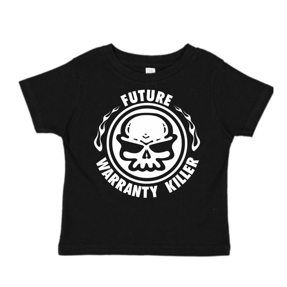 FUTURE WARRANTY KILLER T-SHIRT  BLACK OR PINK