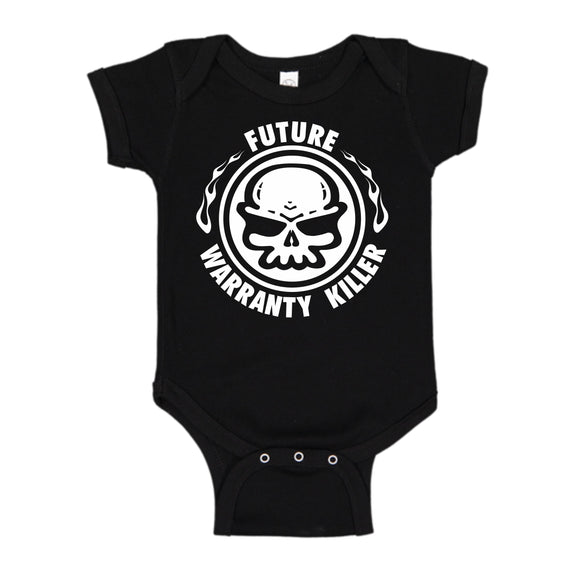 FUTURE WARRANTY KILLER ONESIE BLACK OR PINK