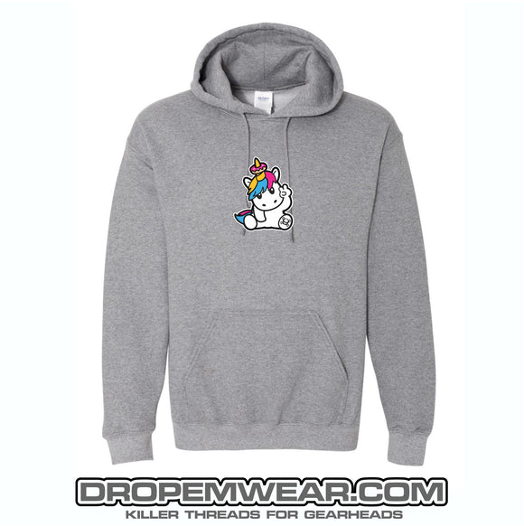 SPRINKLES THE UNICORN EMBROIDERED HOODIE GREY