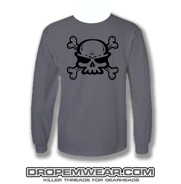 CLOSEOUT SKULL LOGO FRONT WITH DROP EM WEAR ON BACK LONG SLEEVE