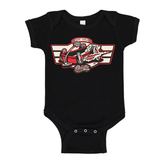KIDS WAGON BLACK ONESIE