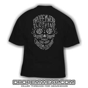 LADIES DAY OF THE DEAD T-SHIRT BLACK