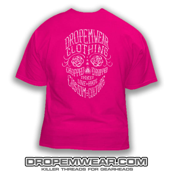 LADIES DAY OF THE DEAD T-SHIRT PINK
