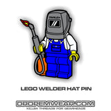 LEGO WELDER HAT PIN (#42)