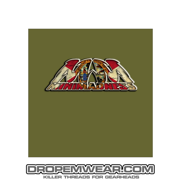 MILITARY GREEN MINI MADNESS FLORIDA FLAG SHIRT