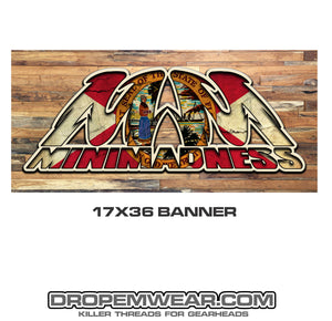 MINI MADNESS FLORIDA STATE FLAG LOGO BANNER 17X26
