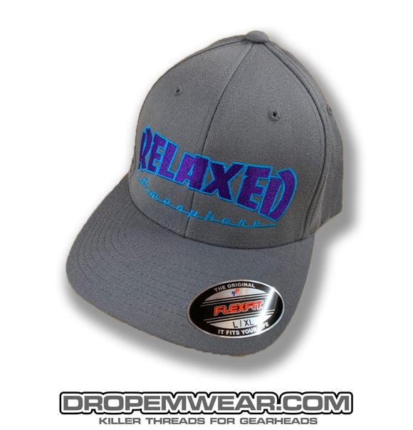 RELAXED THRASHER STYLE LOGO ON GREY CURVED BILL HAT