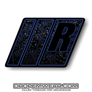 RELAXED BLUE PAISLEY STICKER 3X3
