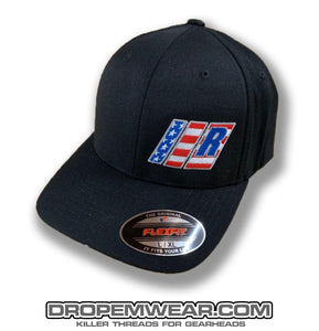 RELAXED BARS AND R AMERICAN FLAG HAT CURVED BILL