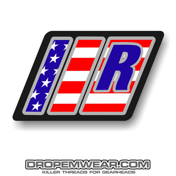 RELAXED MERICA BARS AND R STICKER 3X3