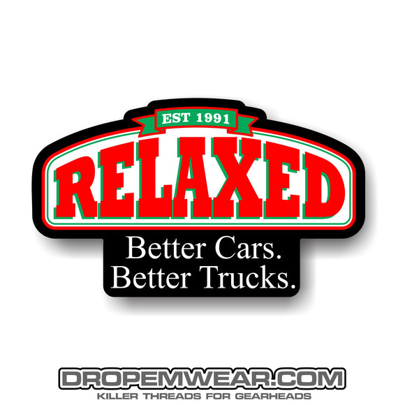 RELAXED PAPA JOHNS STICKER  2X3