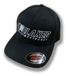 RELAXED CURVED BILL HAT WITH FULL LOGO ON BLACK HAT