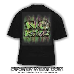 NO REGRETS RUSTY GREEN LOGO