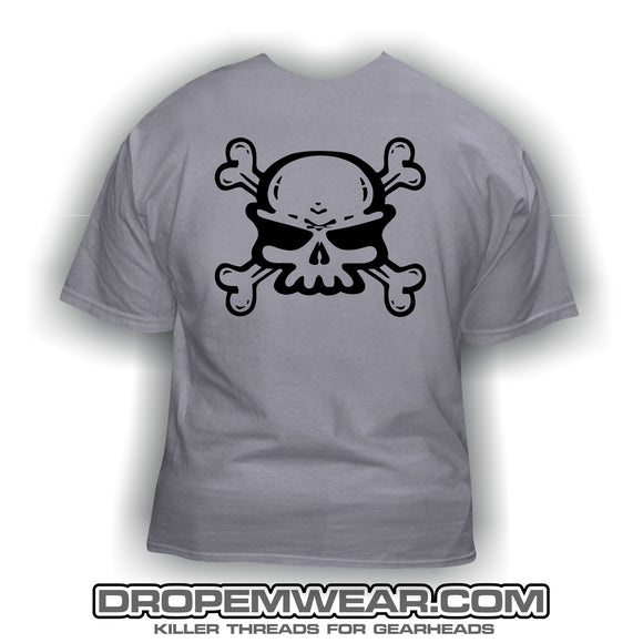 CLOSEOUT SKULL LOGO FRONT WITH DROP EM WEAR ON BACK
