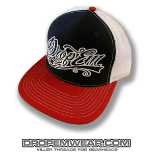 SNAP BACK TRUCKER HAT RED/BLACK/WHITE