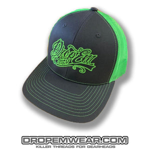 SNAP BACK TRUCKER HAT GREY/LIME