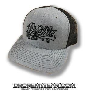 SNAP BACK TRUCKER HAT HEATHER GREY/BLACK