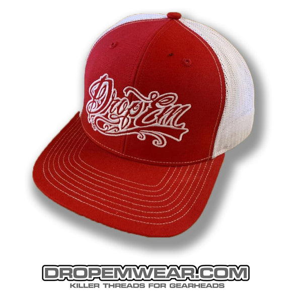 SNAP BACK TRUCKER HAT RED/WHITE