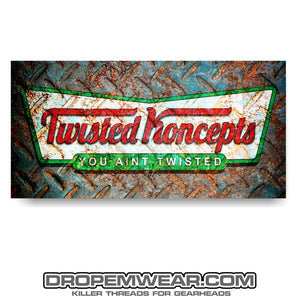 TWISTED KONCEPTS KRIPY KREME BANNER 1.5X4