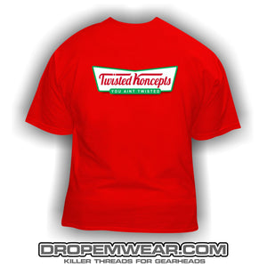 TWISTED KONCEPTS KRISPY KREME LOGO T-SHIRT RED