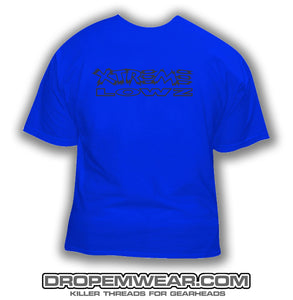 XTREME LOWZ FRONT PRINT ONLY BLUE SHIRT
