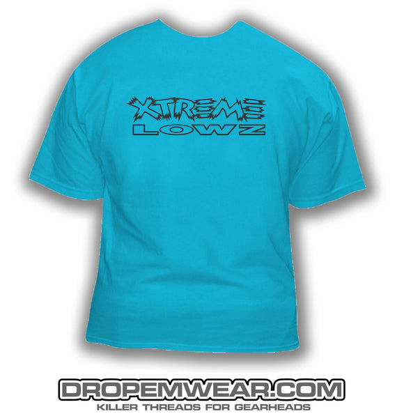 XTREME LOWZ FRONT PRINT ONLY SKY BLUE SHIRT