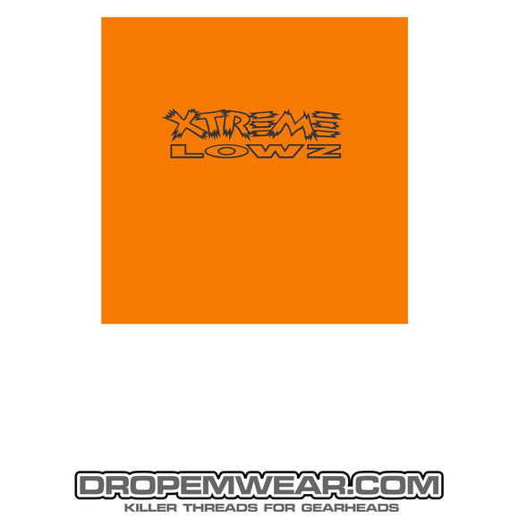 XTREME LOWZ FRONT PRINT ONLY ORANGE
