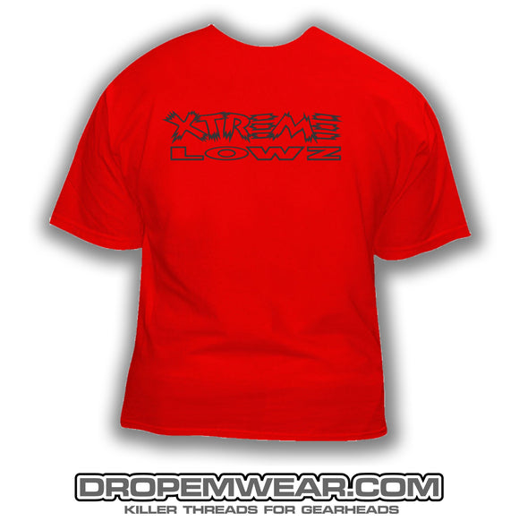 XTREME LOWZ FRONT PRINT ONLY RED SHIRT