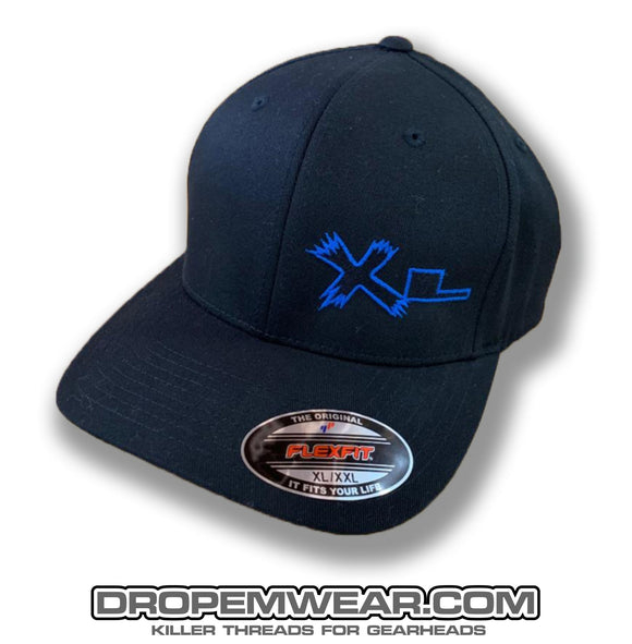 XTREME LOWZ (XL) LEFT PANEL ON BLACK CURVED BILL HAT
