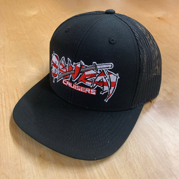 BLACK BANZAI SNAP BACK TRUCKER HAT