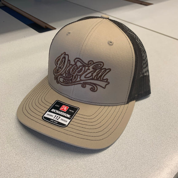 SNAP BACK TRUCKER HAT KHAKI/BROWN