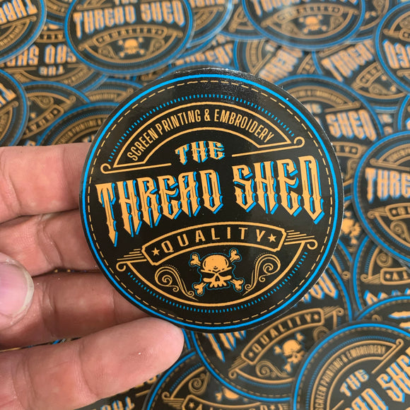 3X3 THREAD SHED STICKER