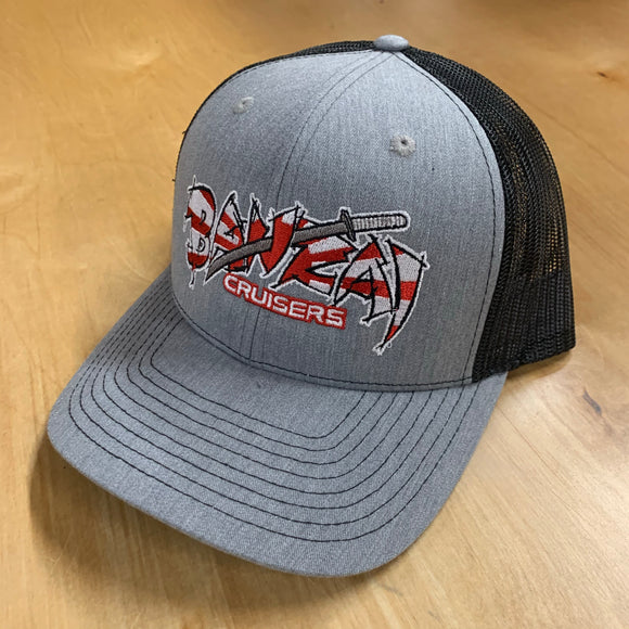 HEATHER/BLACK BANZAI SNAP BACK TRUCKER HAT