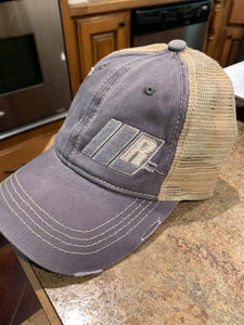 BARS AND R PONYTAIL HAT GREY/KHAKI