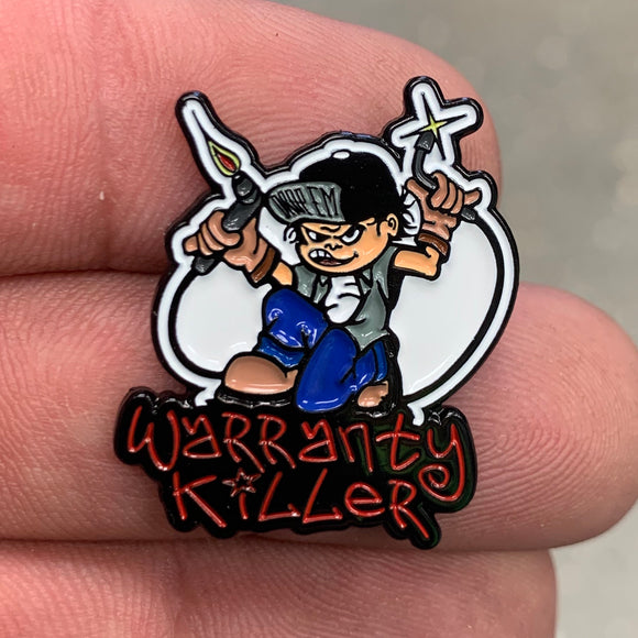 WARRANTY KILLER HAT PIN (#9)