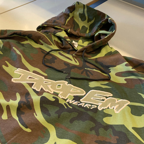 CAMO HOODIE WITH OG EMBROIDERED LOGO