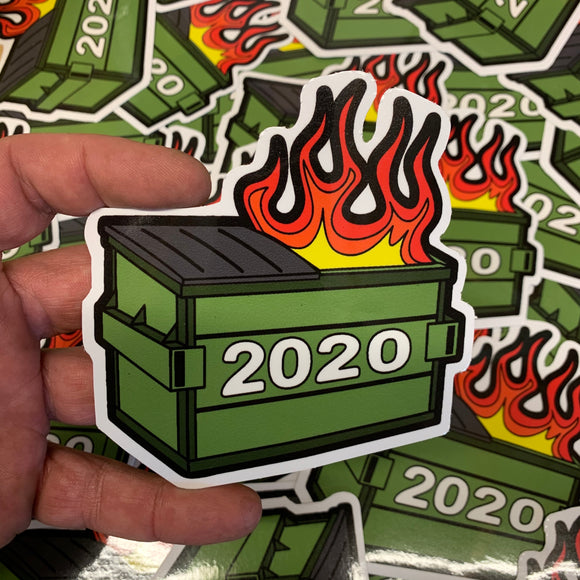 DUMPSTER FIRE STICKER 3X4