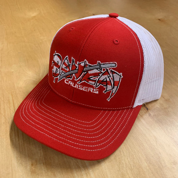 RED/WHITE BANZAI SNAP BACK TRUCKER HAT