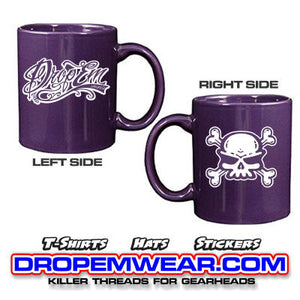 SKULL COFFEE MUG PURPLE