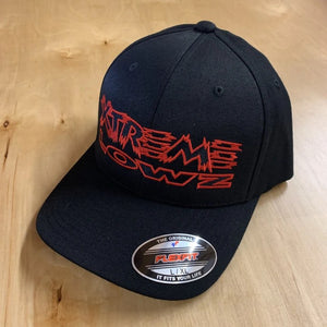 XTREME LOWZ FULL LOGO ON BLACK CURVED BILL HAT