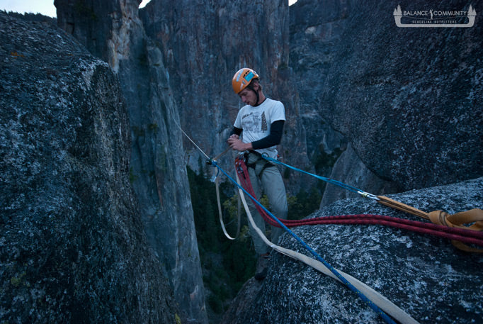 Adding tension to the Cathedral Spires Highline - Photo by Jordan Tybon