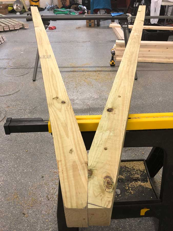 Building hang frames