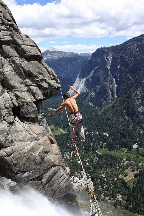 Russ cruising the Yosemite Falls Highline