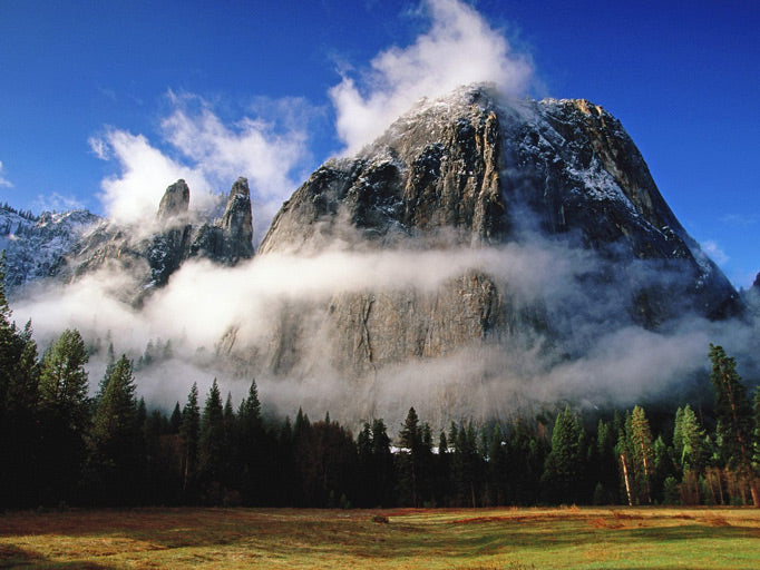 A spectacular view of Cathedral Spires at Yosemite National Park