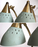 Light green Mid-century Modern accent table lamps OR wall lights