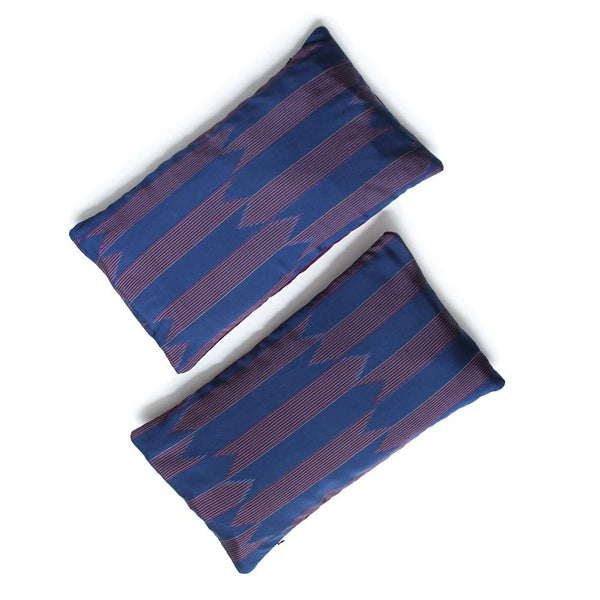 Silk Ikat Arrows Recycled Kimono Cushion Cover.
