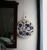 Modernist Embroidery. Textile art in Embroidery Hoop