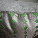 Cover for Lumbar Cushion covers. Silver Obi and Linen 30x60cm. 12x24''