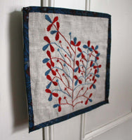Tree of Life Folk Embroidery by ProjectSarafan. Linen and Vintage Fabrics.