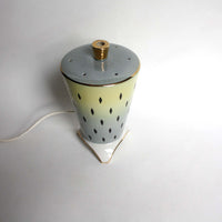 1950 perfume lamp, porcelain night light. Rare